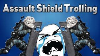 getlinkyoutube.com-BO2: Trolling Little Kid with Double Assault Shields!