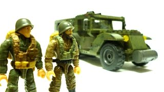 getlinkyoutube.com-Mega Bloks Call of Duty - Half-Track Ambush