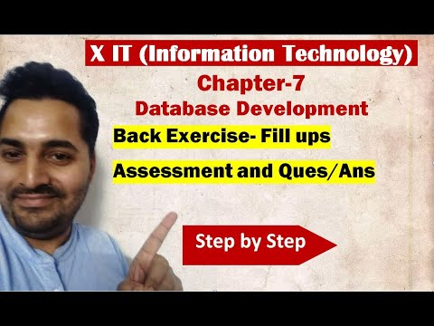 Class X | IT | # 8 | Back Exercise- Fill ups Assessment and Question Answers