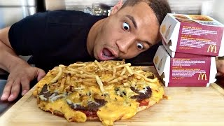 getlinkyoutube.com-DIY MCDONALDS BIG MAC PIZZA!!