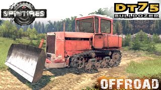 getlinkyoutube.com-SpinTires DT 75 Bulldozer Crawler Tractor Off-road Test