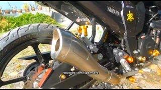 getlinkyoutube.com-Leovince Yamaha FZ16 Byson Cobra Racing Exhaust