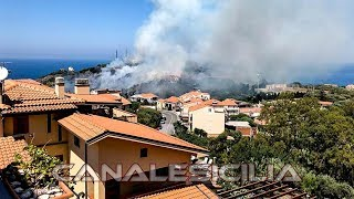 Incendio a Capo d'Orlando località San Martino - www.canalesicilia.it
