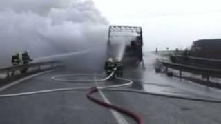 getlinkyoutube.com-Požár nákladního automobilu - výbuch tlakové lahve