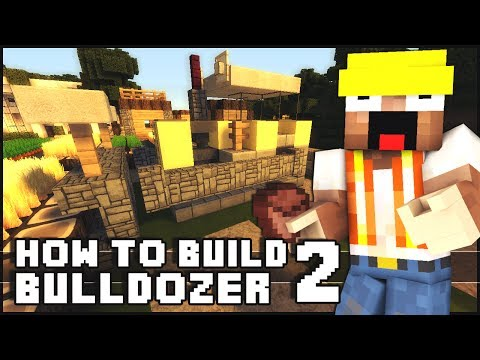 Minecraft Vehicle Tutorial - Bulldozer 2