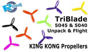 getlinkyoutube.com-KingKong new TriBlade props 5045 and 5040 - test flight from Banggood