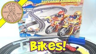 getlinkyoutube.com-Hot Wheels Super Bike Showdown Slot Car Race Track