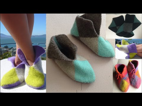 HOW TO KNIT EASY COLOR BLOCK BOOTIES