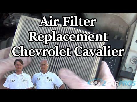 Где находится в Тойота Cavalier воздушный фильтр