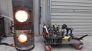 getlinkyoutube.com-Waste Oil Heater - Super quick install - New design - Space Heater