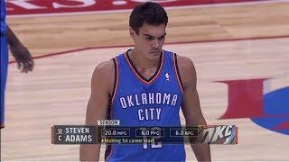 getlinkyoutube.com-Steven Adams 7 Pts Sick Block On Jordan!! at Clippers 2013.11.13