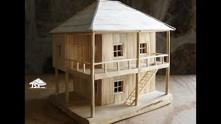 getlinkyoutube.com-How to make a wooden model house