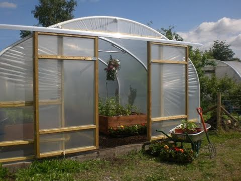Sliding Door for a Polytunnel