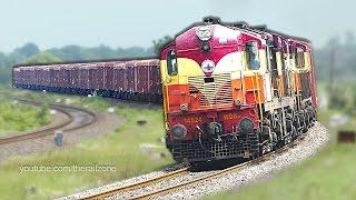 getlinkyoutube.com-BALDY ALCo chugging with a FREIGHT Train : Indian Railways