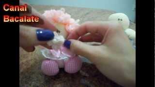 getlinkyoutube.com-Artesanato Como fazer BONECA e BONECO de FUXICO Lembrancinha - DIY - Handmade,