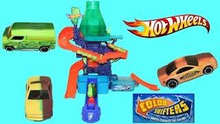 getlinkyoutube.com-Hot Wheels Color Splash Science Lab Color Shifters Play Doh Chocolate Surprise Egg Color Change