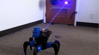 getlinkyoutube.com-Homemade Death Ray Laser DRONE BOT!!! Remote Controlled!!