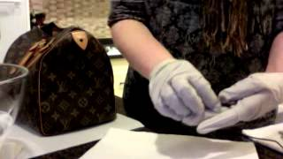 getlinkyoutube.com-Louis Vuitton Speedy 30 Restoration Part II - Cleaning Vachetta Leather and Brass Lock, Key