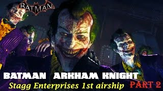 getlinkyoutube.com-Batman Arkham Knight - Track down Scarecrow in Stagg Enterprises 1st airships - Part 2