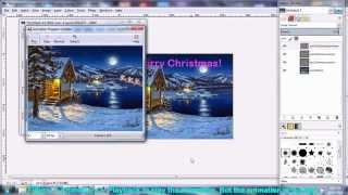 getlinkyoutube.com-How to make Christmas Animated gif Ecard using free software Gimp