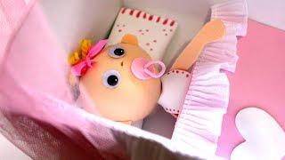 getlinkyoutube.com-fofucha bebe con cuna de foamy o goma Eva