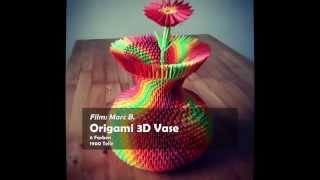getlinkyoutube.com-3D Origami Colorful Vase