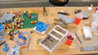 getlinkyoutube.com-Casting Walnut in Alumilite to make worthless wood pen blanks.