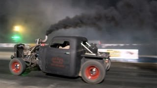 getlinkyoutube.com-Compound Turbo DIESEL Rat Rod - Got Smoke?