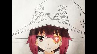 getlinkyoutube.com-How to draw Megumin (Kono Suba)