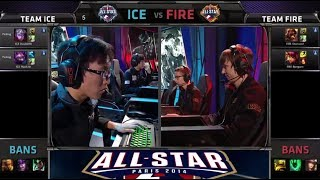getlinkyoutube.com-DoubleLift / MadLife vs Bjergsen / Diamond 2 v 2 | Team Ice vs Team Fire | All-star Paris 2014
