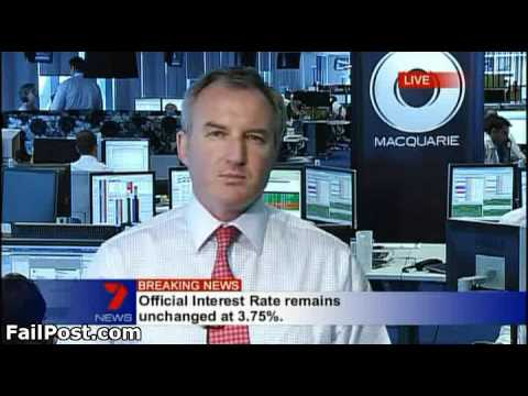 Bank Worker Caught Looking on Live News TV Broadcast