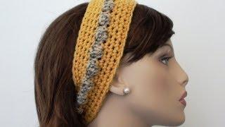getlinkyoutube.com-Bobbly Chic Crochet Headband - Crochet Headband