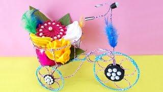 getlinkyoutube.com-DIY Project Ideas : How to Make Decorative Tricycle | Kids Craft Ideas