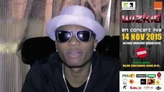 Concert Wizkid à Bamako, le 14 novembre 2015