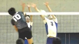 バレーボール 福岡県(4校選抜)vs 鹿児島県(6校選抜)-1セット 和歌山国体 少年男子 決勝 2015.9.30
