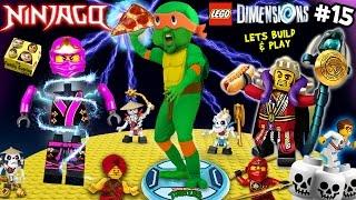 getlinkyoutube.com-NINJA TURTLES POWER PIZZA! Lets Build & Play LEGO Dimensions #15: Michael Angelo the Ninjago Master