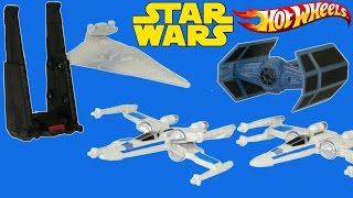 getlinkyoutube.com-STAR WARS THE FORCE AWAKENS TOYS SHIPS KYLO REN DARTH VADER X WING TIE FIGHTER