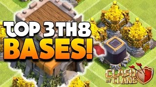 """getlinkyoutube.com-Clash Of Clans - TOP 3 TH8 FARMING BASE 2016! """"NEW UPDATE!"""" - CoC BEST TOWN HALL 8 DEFENSE 2016!"""