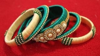 Latest silk thread bangle making at home I Easy and Simple bangles