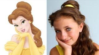 getlinkyoutube.com-Belle's Hairstyle Tutorial | A CuteGirlsHairstyles Disney Exclusive