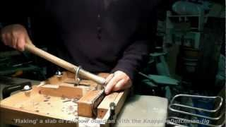 getlinkyoutube.com-the KnappingDutchman-jig at work - obsidian slab knapping