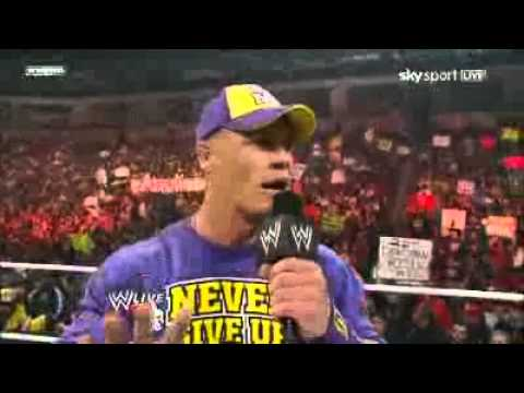 John Cena Disses The Rock (21\02\2011)
