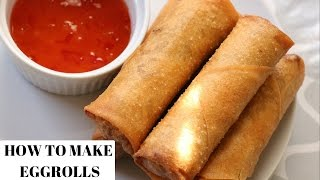 getlinkyoutube.com-EGG ROLL RECIPE - HOW TO MAKE EGG ROLLS