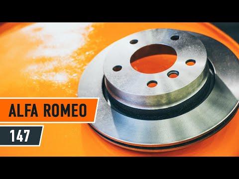 Как да сменим задни спирачни дискове и задни спирачни накладки на ALFA ROMEO 147 (ИНСТРУКЦИЯ)