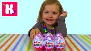 getlinkyoutube.com-Хелло Китти Киндер Сюрприз игрушки распаковка Hello Kitty Kinder Surprise toys