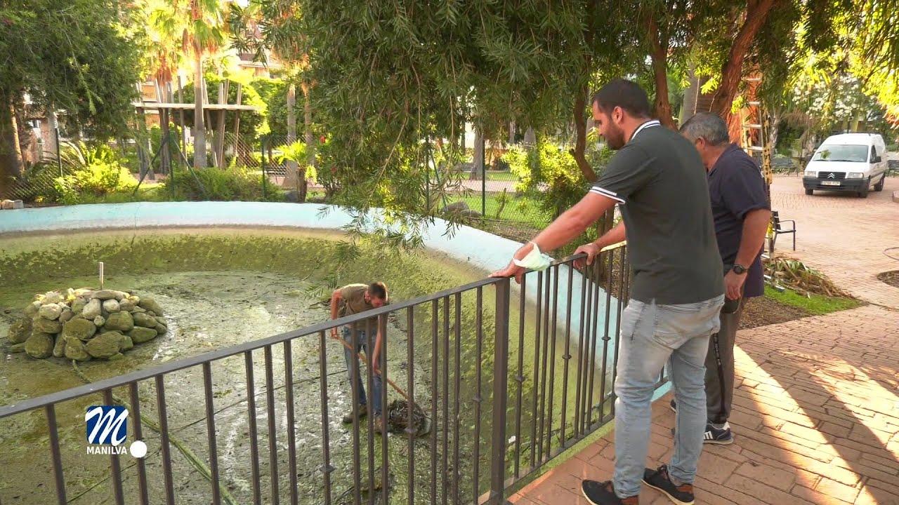 Trabajos de mejora en el Parque de Villa Matilde