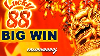 getlinkyoutube.com-LUCKY 88 SLOT x88 *BIG SLOT WIN* - ALL BONUS FEATURES! - Slot Machine Bonus