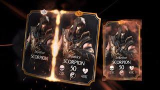 getlinkyoutube.com-Mortal Kombat X iOS - Injustice Scorpion Promoted to Level 50 Elite VII