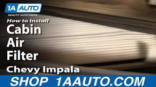 getlinkyoutube.com-How to Install Repair Replace Cabin Air Filter Chevy Impala 00-05 1AAuto.com