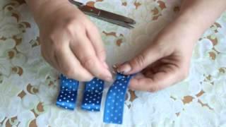 getlinkyoutube.com-Как сделать бантик из атласной ленты  Satin Ribbon Flower - Tutorial